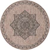 122cm x 122cm Outdoor Traditional Round Rug thumbnail