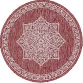 4' x 4' Outdoor Traditional Round Rug thumbnail