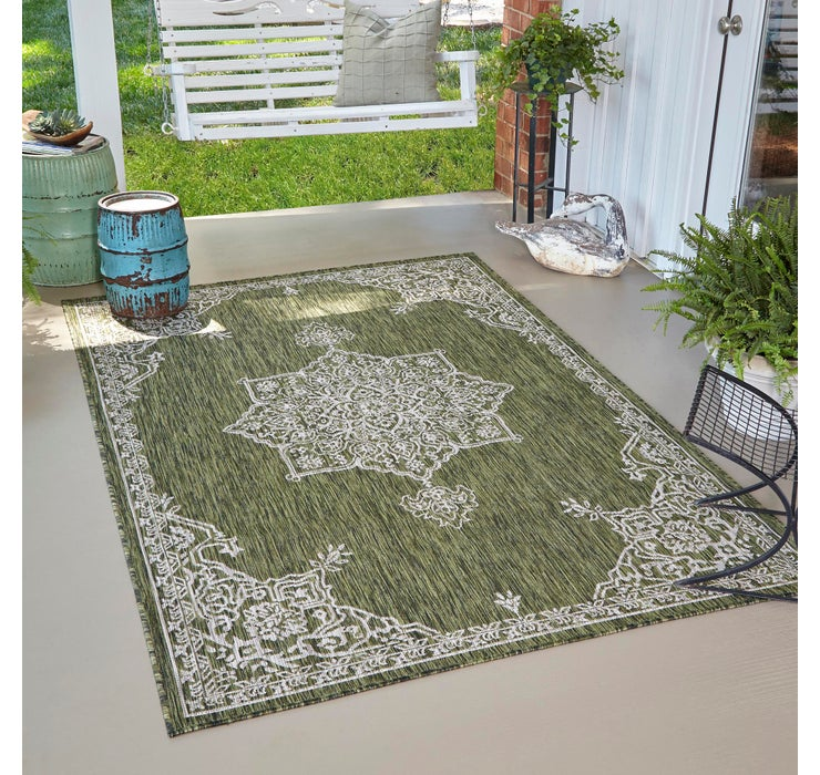 Image of 8' x 11' 4 Outdoor Traditional Rug