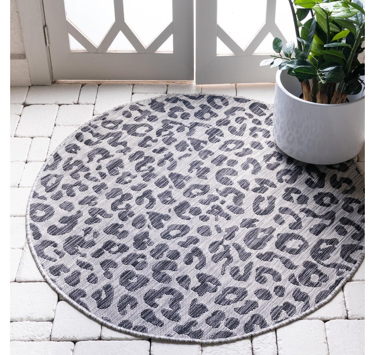 122cm x 122cm Outdoor Safari Round Rug
