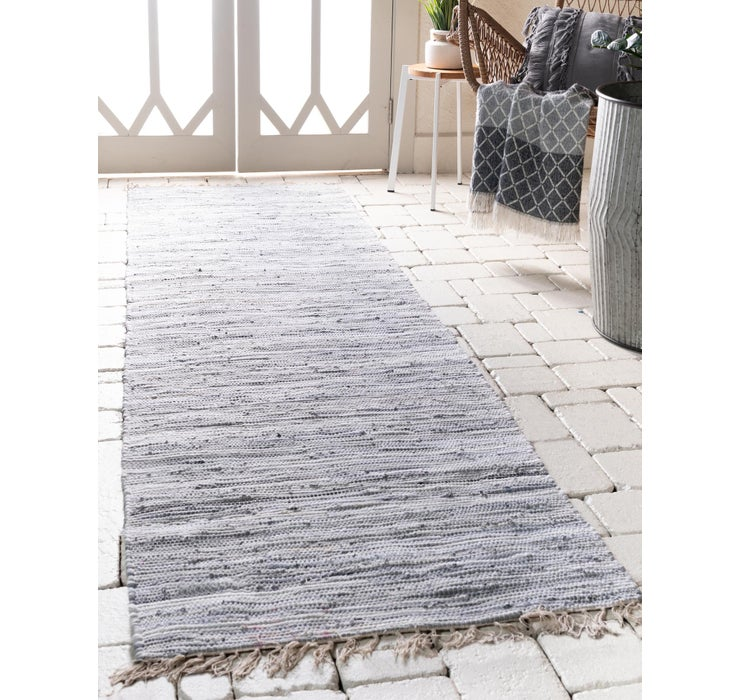 80cm x 300cm Chindi Cotton Runner Rug