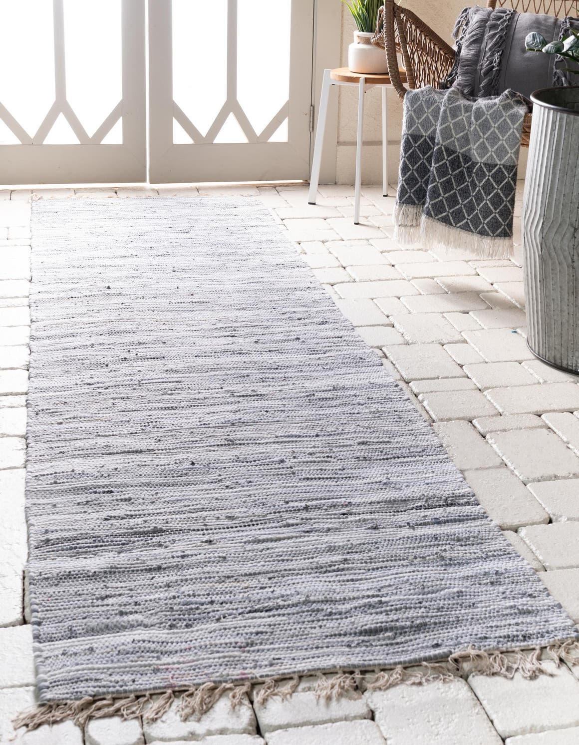 2' 7 x 9' 10 Chindi Cotton Runner Rug main image