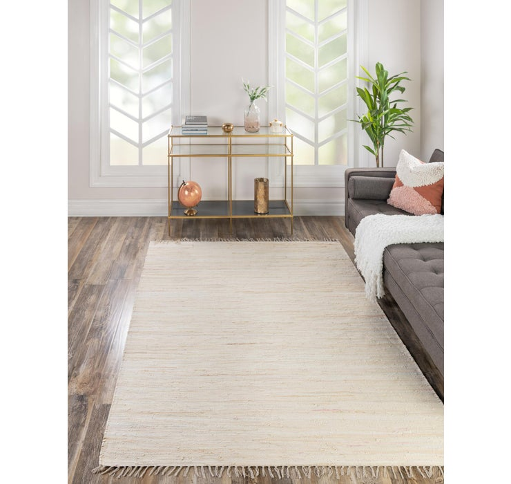 Beige Chindi Cotton Rug