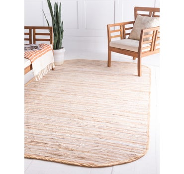 5' x 8' Chindi Cotton Oval Rug main image