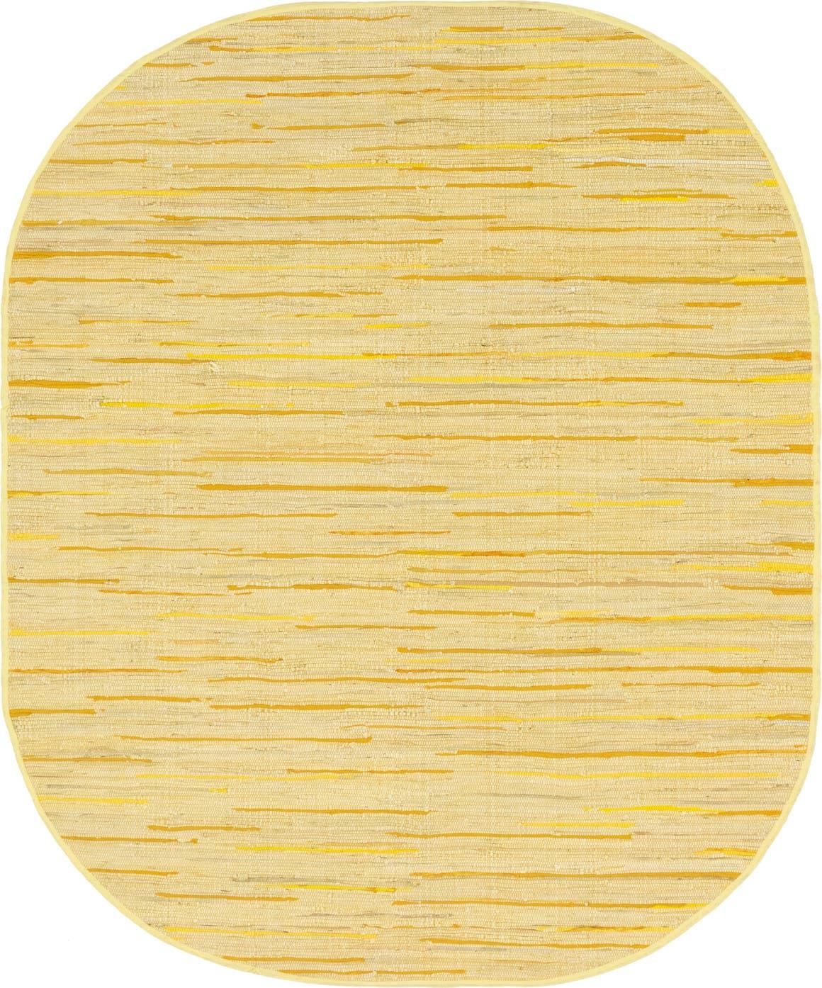 8' x 10' Chindi Cotton Oval Rug main image