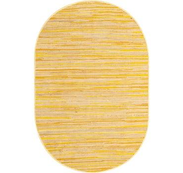 5' x 8' Chindi Cotton Oval Rug main image