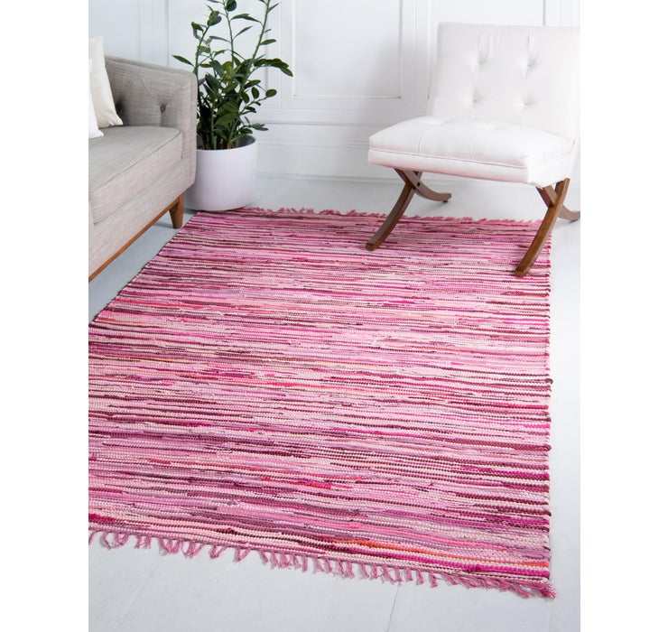 Image of 152cm x 245cm Chindi Cotton Rug