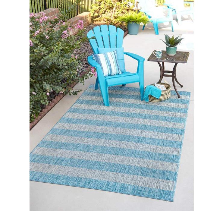 183cm x 275cm Outdoor Striped Rug