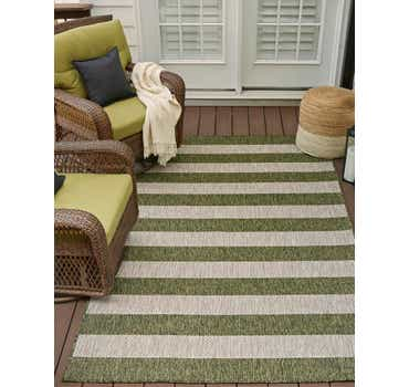 Image of 9' x 12' Outdoor Striped Rug