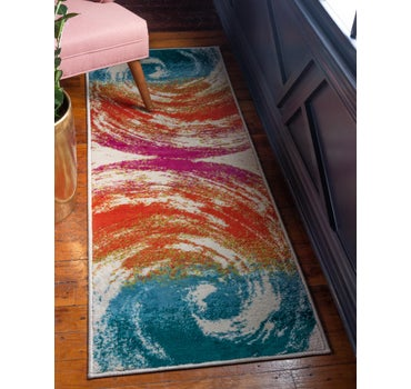 Jane Seymour 2' x 6' Open Hearts Runner Rug main image