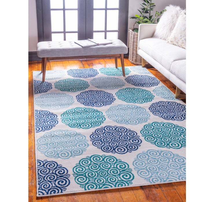 Image of 8' x 10' Open Hearts Rug