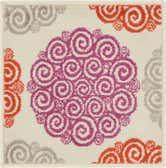 Jane Seymour 1' 8 x 1' 8 Open Hearts Sample Rug thumbnail