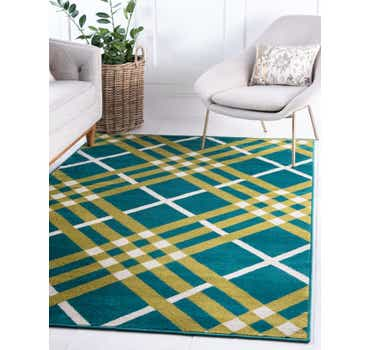 Image of Jane Seymour Green Open Hearts Rug