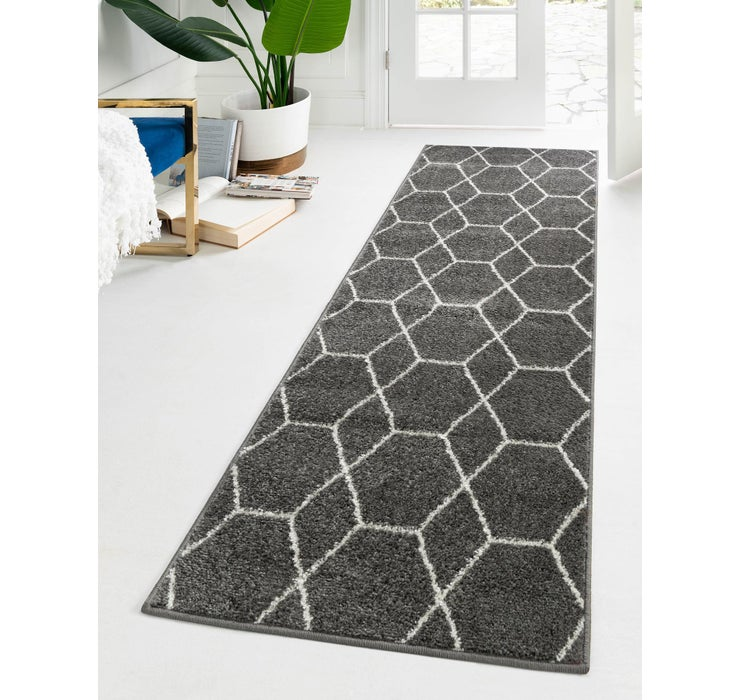 60cm x 395cm Trellis Frieze Runner Rug