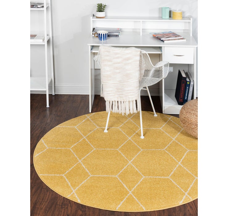 6' x 6' Trellis Frieze Round Rug