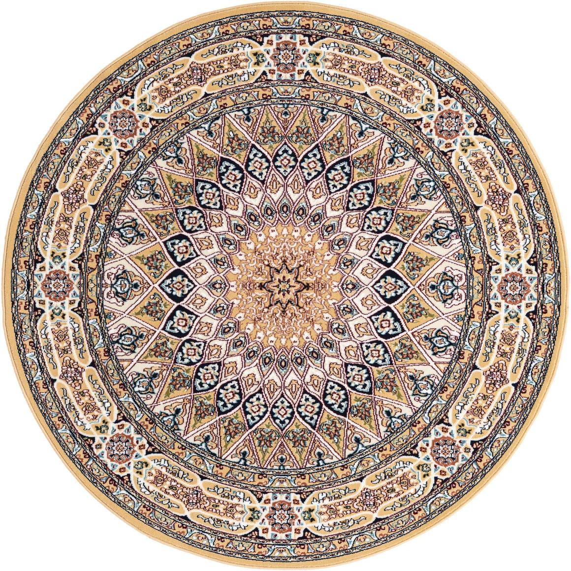 5' x 5' Nain Design Round Rug main image