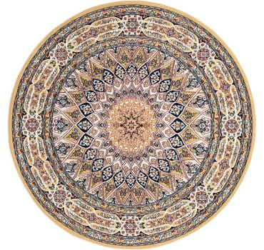 Image of 5' x 5' Nain Design Round Rug