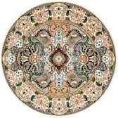 5' x 5' Nain Design Round Rug thumbnail