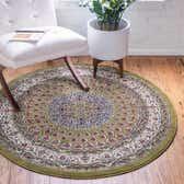 10' x 10' Nain Design Round Rug thumbnail