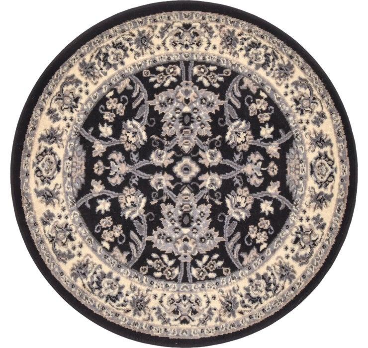 3' 3 x 3' 3 Kashan Design Round Rug