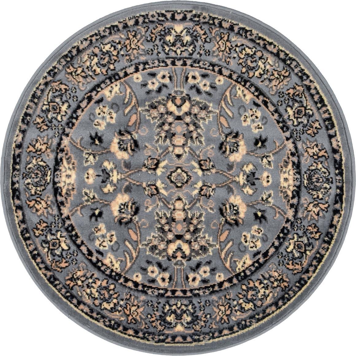 3' 3 x 3' 3 Kashan Design Round Rug main image