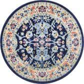 3' 3 x 3' 3 Kashan Design Round Rug thumbnail