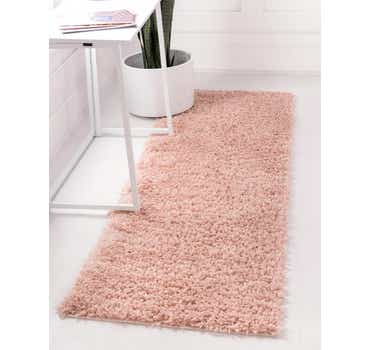 Dusty Rose Zermatt Shag Runner Rug