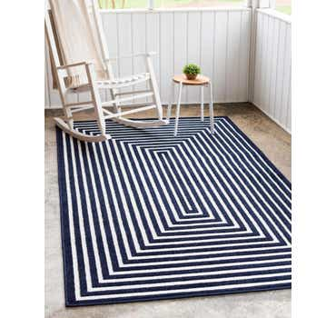Navy Blue Sabrina Soto Outdoor Rug