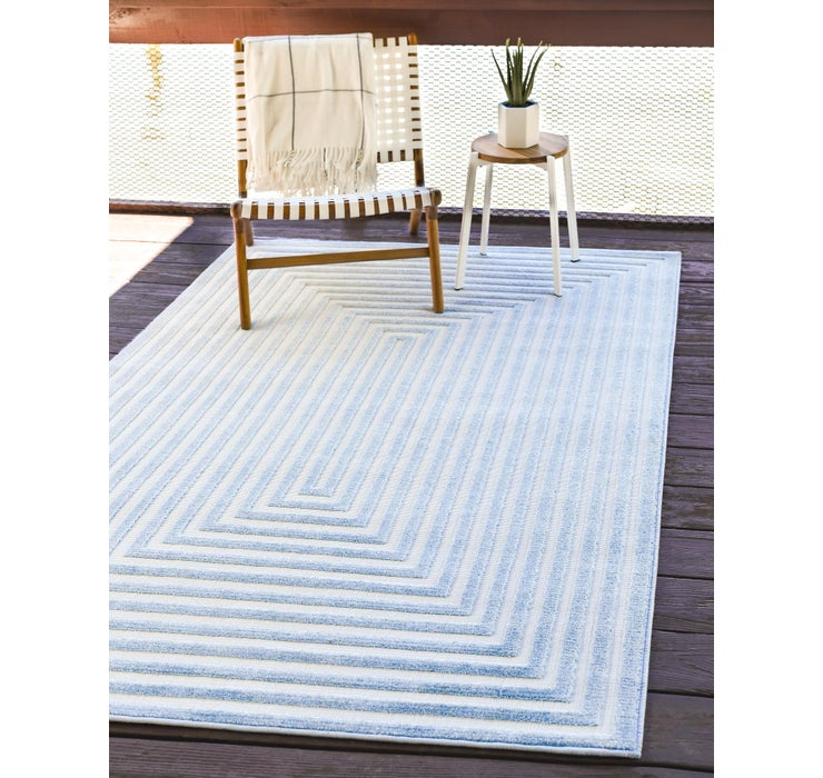 Light Blue Sabrina Soto Outdoor Rug