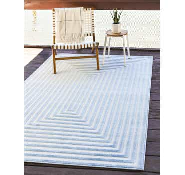 Image of Sabrina Soto Light Blue Sabrina Soto Outdoor Rug