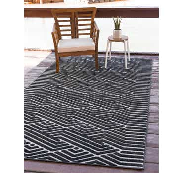 Image of Sabrina Soto Black Sabrina Soto Outdoor Rug