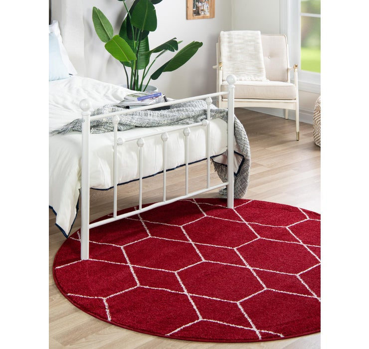 4' x 4' Trellis Frieze Round Rug