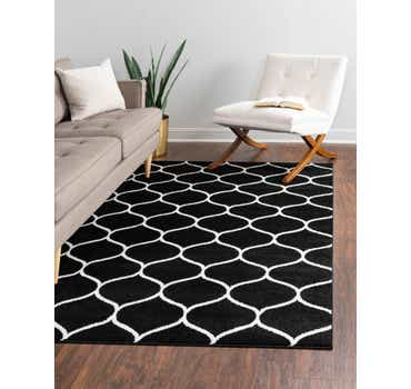 Image of  Black Lattice Frieze Rug