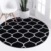 5' x 5' Lattice Frieze Round Rug thumbnail