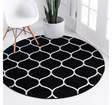 Image of  5' x 5' Lattice Frieze Round Rug