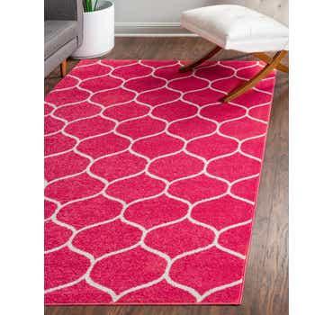 Image of  Pink Lattice Frieze Rug