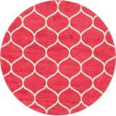 5' x 5' Trellis Frieze Round Rug thumbnail