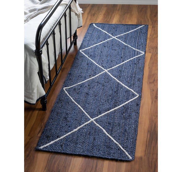 65cm x 183cm Braided Jute Runner Rug