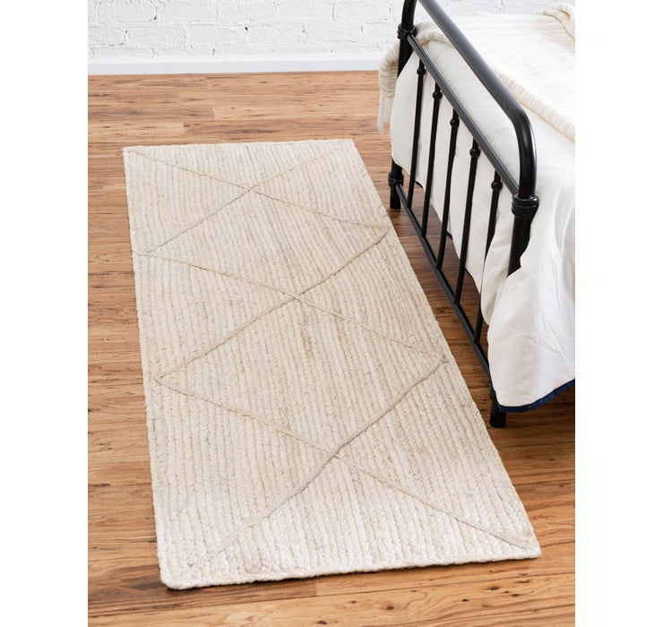 65cm x 250cm Braided Jute Runner Rug
