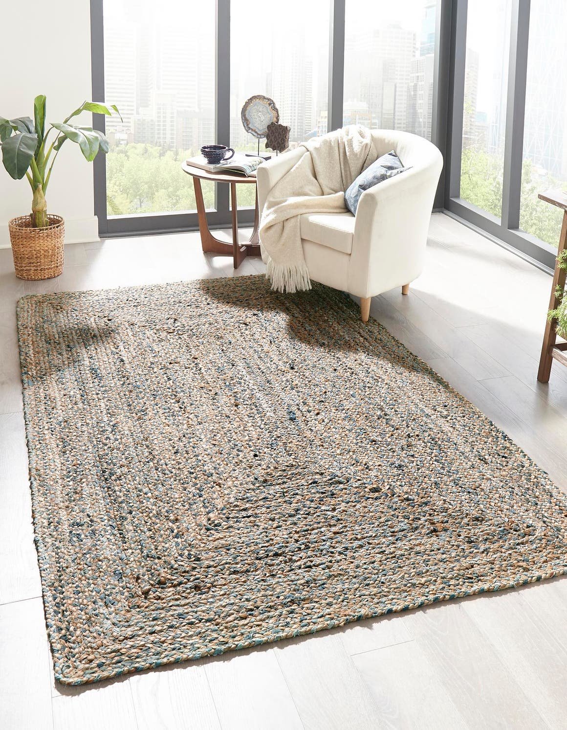 10' x 13' Braided Chindi Rug main image