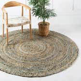 6' 3 x 6' 3 Braided Chindi Round Rug thumbnail