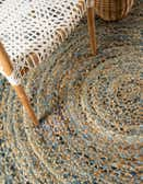 4' x 4' Braided Chindi Round Rug thumbnail