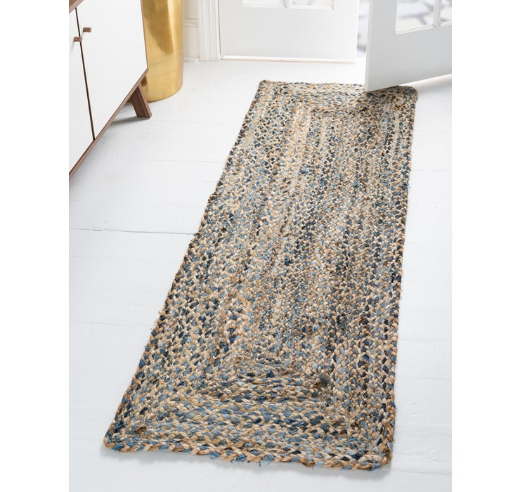 65cm x 183cm Braided Chindi Runner Rug