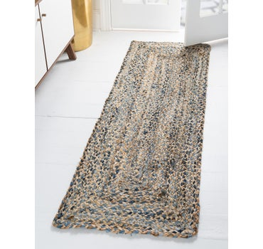 2' 2 x 6' Braided Chindi Runner Rug main image