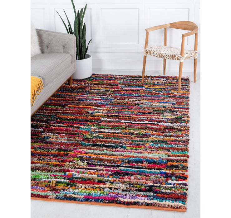 122cm x 183cm Braided Chindi Rug