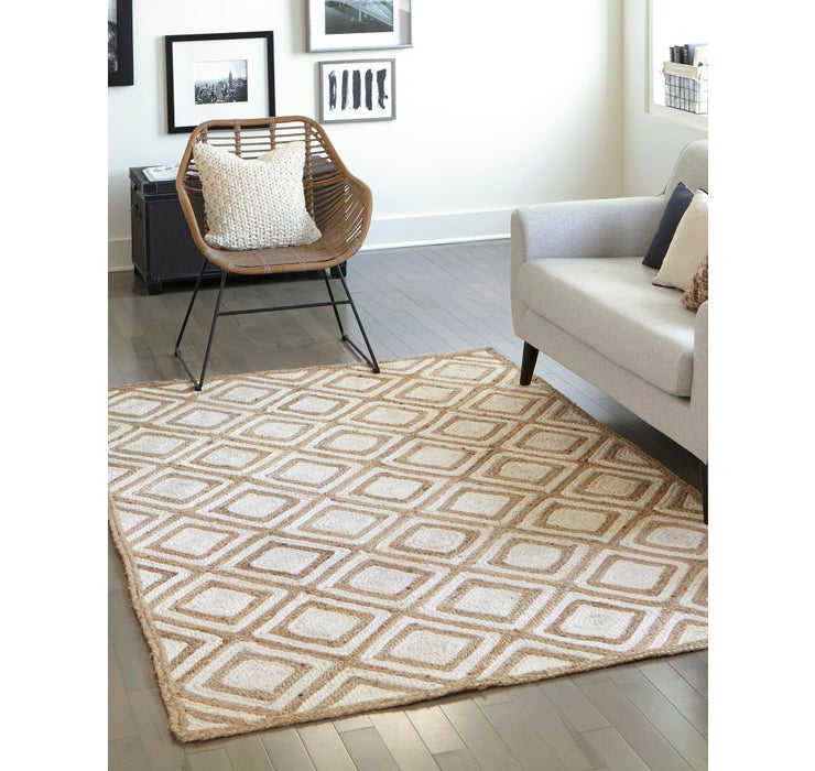 Image of 9' x 12' Braided Jute Rug