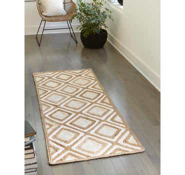 Image of 2' 6 x 6' Braided Jute Runner Rug
