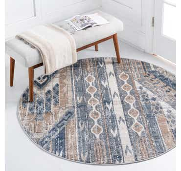 Navy Blue Oregon Round Rug