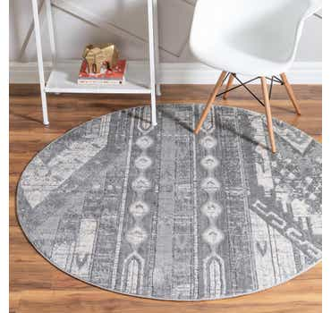 Image of  Gray Oregon Round Rug