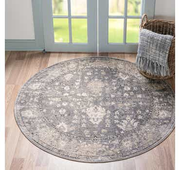 Gray Oregon Round Rug